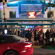 MIAMI BEACH, FLORIDA, NOVEMBER 4, 2016<br /> Pedestrian traffic crawls along in both directions in front of popular bar Mango's in Miami Beach's popular Ocean Drive on a Friday night. Recent incidents of violence and crime are pushing the city of Miami Beach to try to alter the appeal of the area.<br /> (Photo by Angel Valentin/Freelance)