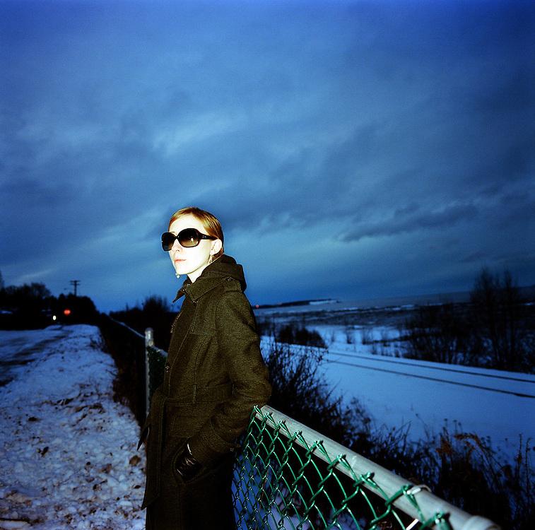 ANCHORAGE, AK - 2009: Writer and photographer Ash Adams.