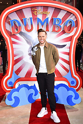 Olly Murs attending the European premiere of Dumbo held at Curzon Mayfair, London.