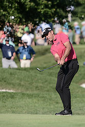 August 10, 2018 - Town And Country, Missouri, U.S - CHARL SCHWARTZEL from South Africa chips up onto the fourth green during round two of the 100th PGA Championship on Friday, August 10, 2018, held at Bellerive Country Club in Town and Country, MO (Photo credit Richard Ulreich / ZUMA Press) (Credit Image: © Richard Ulreich via ZUMA Wire)