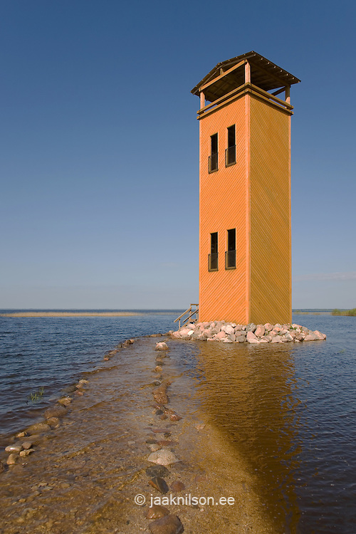 Watchtower in Rannu-Jõesuu by Lake Võrtsjärv, Viljandi County, Estonia
