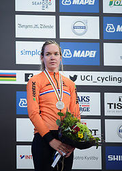 Second place for Anna van der Breggen at UCI Road World Championships Elite Women's Individual Time Trial 2017 a 21.1 km time trial in Bergen, Norway on September 19, 2017. (Photo by Sean Robinson/Velofocus)