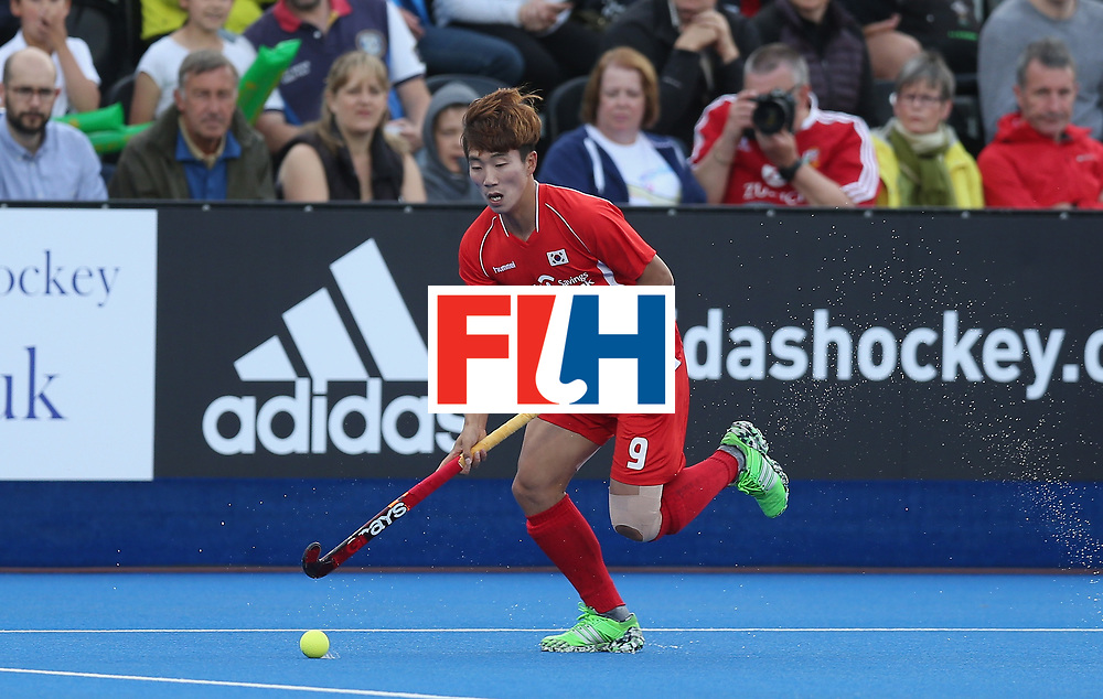 LONDON, ENGLAND - JUNE 16:  Taeil Hwang of Korea during the FIH Mens Hero Hockey Champions Trophy match between Korea and Germany at Queen Elizabeth Olympic Park on June 16, 2016 in London, England.  (Photo by Alex Morton/Getty Images)