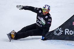 Aaron Muss (USA) during Final Run at Parallel Giant Slalom at FIS Snowboard World Cup Rogla 2019, on January 19, 2019 at Course Jasa, Rogla, Slovenia. Photo byJurij Vodusek / Sportida