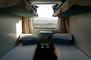 beds with a view in a chinese sleeper car train