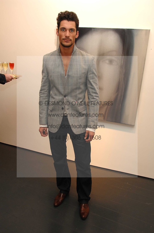 Model DAVID GANDY at a party to launch Glamotox held at 7 Dover Street, London on 21st November 2007.<br /><br />NON EXCLUSIVE - WORLD RIGHTS