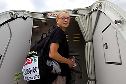 Daneja Grandovec at departure of team Slovenia at the end of European Athletics Championships Barcelona 2010, on August 2, 2010 at Airport, Barcelona, Spain. (Photo by Vid Ponikvar / Sportida)