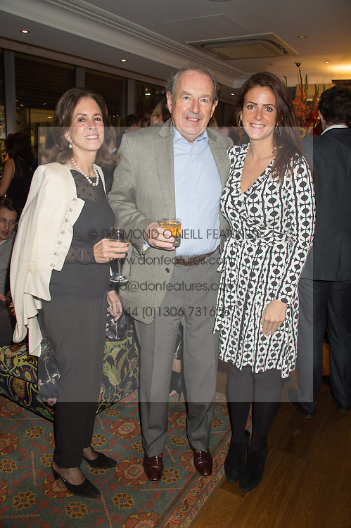 Left to right, SIR MICHAEL & LADY PAKENHAM and CLIO PAKENHAM at the launch of BAR20 at Birleys, 20 Fenchurch Street, City of London on 10th November 2015.