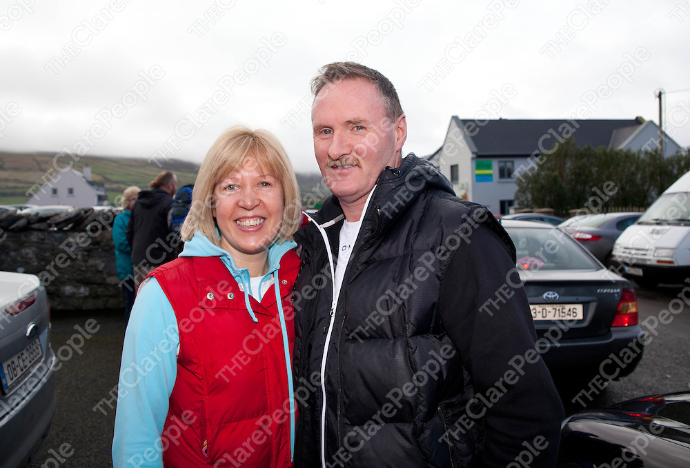 12.02.12.<br /> The Clare Branch of the Alzheimers Society of Ireland's annual fundraising 10 KM Burren Walk, Co. Clare. Enjoying the event were, Marion and James Shannahan. Picture: Alan Place/Press 22.