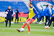 Huddersfield Town defender Jon Gorenc Stanković warming up before the EFL Sky Bet Championship match between Wigan Athletic and Huddersfield Town at the DW Stadium, Wigan, England on 14 December 2019.