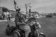 Customised mobility scooter, top speed 8 mph, Pirate day, Hastings. 17 July 2016