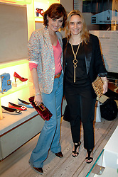 Left to right, INES DE LA FRESSANGE and SOPHIE GACHET at a party to celebrate the publication of 'Parisian Chic: A Style guide' by Ines de La Fressange held at Roger Vivier, Sloane Street, London on 5th Apreil 2011.