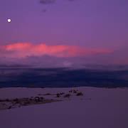 Gypsum dunes in White Sands National Monument, New Mexico.