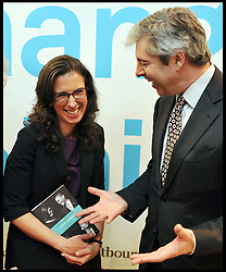 BBC Radio Four Presenter Justin Webb with New York Times Reporter Jodi Kantor with her new book The Obamas A Mission A Marriage at a book launch in Central London, Monday January 23, 2012. Photo By Andrew Parsons/ i-Images