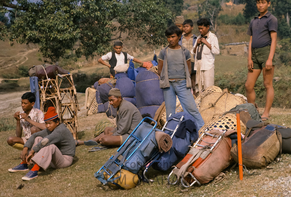Sherpas in the foothills of the Himalayas at Pokhara in Nepal
