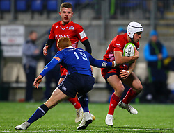 Iwan Hughes of Bristol United in action against Gavin Mullin of Leinster - Mandatory by-line: Ken Sutton/JMP - 15/12/2017 - RUGBY - Donnybrook Stadium - Dublin,  - Leinster 'A' v Bristol United -