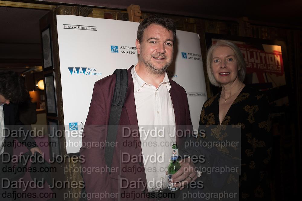 GORDON MASON MAUREEN MURRAY, Premiere of Revolution, New Art For a New World ,  Curzon cinema , London. 10 Nov 2016
