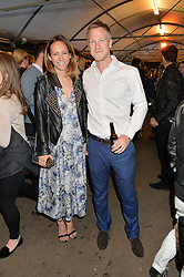 LAVINIA BRENNAN and JAMIE RICHARDS  at a party to celebrate the launch of the Taylor Morris Eyewear's Summer Collection held at The Chelsea Gardner, 125 Sydney Street, London on 20th May 2015.