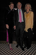 Eimear Montgomerie with Michael & Sandra Howard.. Conservative fund raising dinner hosted  by Marco Pierre White and Franki Dettori at  Frankie's. Knightsbridge. 17 January 2004. ONE TIME USE ONLY - DO NOT ARCHIVE  © Copyright Photograph by Dafydd Jones 66 Stockwell Park Rd. London SW9 0DA Tel 020 7733 0108 www.dafjones.com