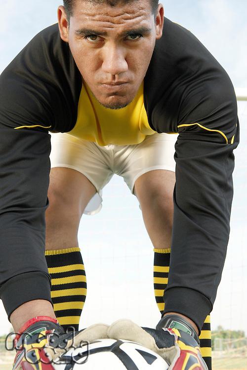 Serious Soccer Goalie
