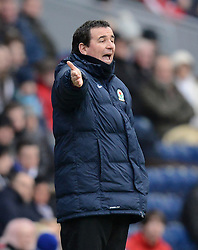 Blackburn Rovers Manager Gary Bowyer gestures - Photo mandatory by-line: Richard Martin Roberts/JMP - Mobile: 07966 386802 - 24/01/2015 - SPORT - Football - Blackburn - Ewood Park - Blackburn Rovers v Swansea City - FA Cup Fourth Round