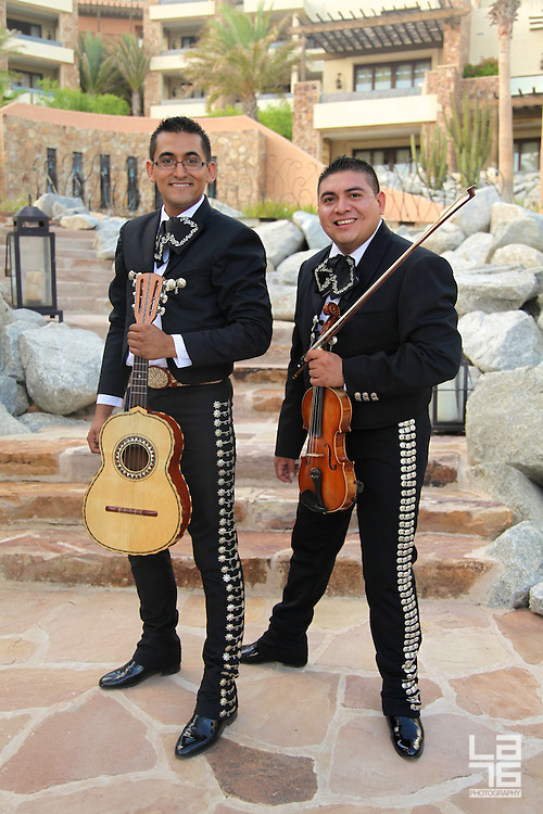 Mariachi and tequila display with traditional antojitos at Capella Pedregal, Cabo San Lucas, Mexico. All is set for the celebrations of Mexico's Independence Day on September 15th!