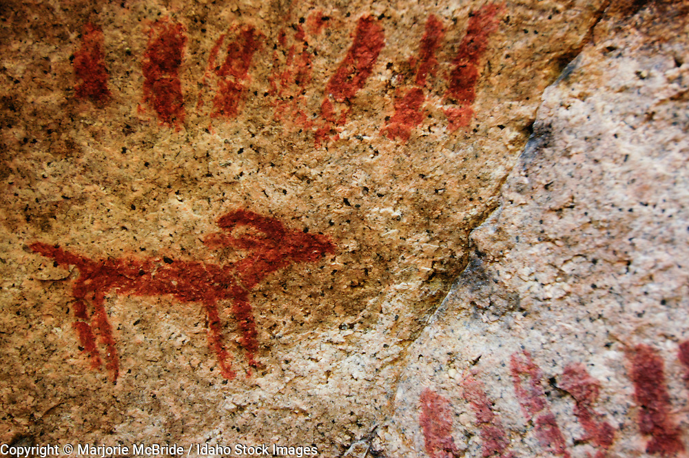 Pictograph from the Sheepeater and Shoshone tribes found along the Middle Fork of the Salmon River, Idaho.