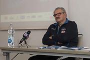 Romeo Meo Sacchetti<br /> Nazionale Italiana Maschile Senior - Conferenza Stampa Presentazione Italia - Romania<br /> FIP 2017<br /> Torino, 23/11/2017<br /> Foto M.Ceretti / Ciamillo-Castoria