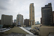 Skyline of downtown Manila in daytime in Makati, Metro Manila, Philippines. The high-rise building on the far right is the Ascott Hotel. (photo by Andrew Aitchison / In pictures via Getty Images)