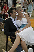 Darius Danesh and Natasha Henstridge, Veuve Clicquot Gold Cup 2006. Final day. 23 July 2006. ONE TIME USE ONLY - DO NOT ARCHIVE  © Copyright Photograph by Dafydd Jones 66 Stockwell Park Rd. London SW9 0DA Tel 020 7733 0108 www.dafjones.com