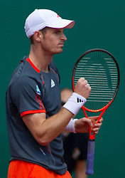 20.04.2012, Country Club, Monte Carlo, MON, ATP World Tour, Rolex Masters, Viertelfinale, im Bild Andy Murray (GBR) pumps his fist during the quarter final singles match between Andy Murray (GBR) and Tomas Berdych (CZE) // during Rolex Masters tennis tournament quarter Final of ATP World Tour at Country Club, Monte Carlo, Monaco on 2012/04/20. EXPA Pictures © 2012, PhotoCredit: EXPA/ Mitchell Gunn