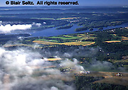 Delaware River, Farmland, Pennsylvania, Aerial