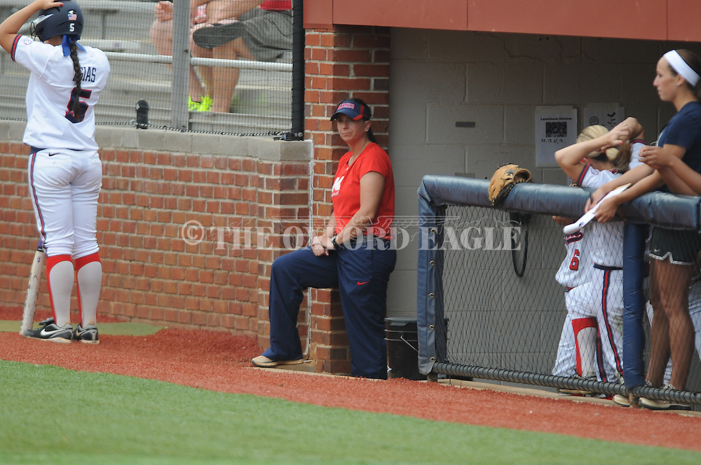 Ole Miss coach Wendy Thees vs. Louisiana-Monroe at the Ole Miss Softball Complex in Oxford, Miss. on Wednesday, April 17, 2013. Ole Miss won 8-0.