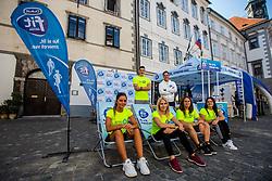 Dukat fit stand at Bike Festival even in city center of Ljubljana on 15th of September, 2019, Ljubljana, Slovenia. Photo by Grega Valancic / Sportida