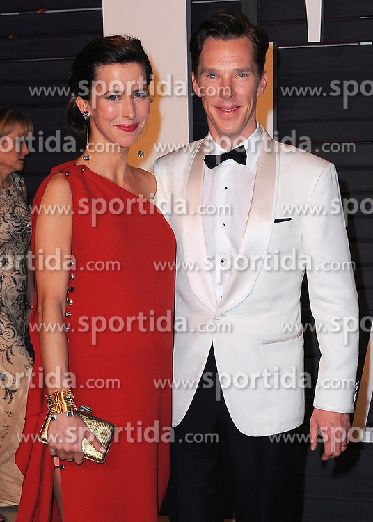 22.02.2015, Wallis Anneberg Center for the Performing Arts, Beverly Hills, USA, Vanity Fair Oscar Party 2015, Roter Teppich, im Bild Benedict Cumberbatch // during the red Carpet of 2015 Vanity Fair Oscar Party at the Wallis Anneberg Center for the Performing Arts in Beverly Hills, United States on 2015/02/22. EXPA Pictures &copy; 2015, PhotoCredit: EXPA/ Newspix/ PGSK<br /> <br /> *****ATTENTION - for AUT, SLO, CRO, SRB, BIH, MAZ, TUR, SUI, SWE only*****