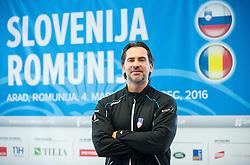 Blaz Trupej during press conference of Slovenian Men Tennis Team for Davis Cup Romania vs Slovenia competition, on February 24, 2016 in Kristalna palaca, Ljubljana, Slovenia. Photo by Vid Ponikvar / Sportida