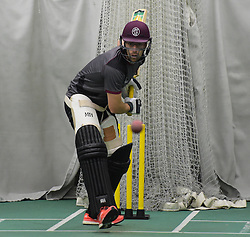 Somerset's Jack Leach in action. - Mandatory byline: Alex Davidson/JMP - 25/02/2016 - CRICKET - The Cooper Associates County Ground -Taunton,England - Somerset CCC  Media access - Pre-Season
