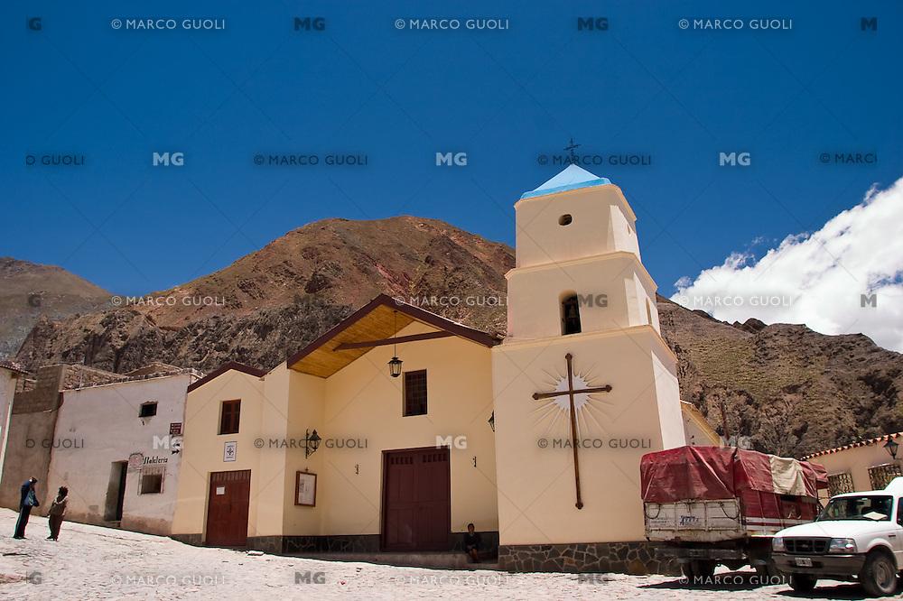 IRUYA, IGLESIA NUESTRA SEÑORA DEL ROSARIO Y SAN ROQUE, PROV. DE SALTA, ARGENTINA