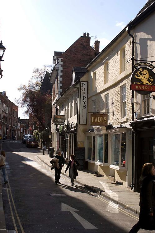 Shrewsbury town , Wyle Cop area.