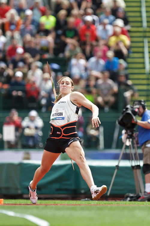 Olympic Trials Eugene 2012: women's Javelin, Kara Patterson, 2nd, Olympian