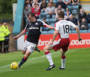 Dundee's Paul McGowan and Rangers' Jordan Rossiter - Dundee v Rangers, Ladbrokes Scottish Premiership at Dens Park<br /> <br />  - © David Young - www.davidyoungphoto.co.uk - email: davidyoungphoto@gmail.com
