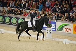 Van Grunsven Anky (NED) - IPS Painted Black<br /> CDI-W Mechelen 2008<br /> Photo © Dirk Caremans