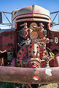 Details of an old fire truck in Shaniko, Oregon.