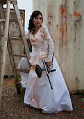 Trash The Dress:       Paintball Bride