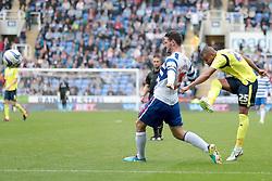 Birmingham City's  Matt Green tries a shot - Photo mandatory by-line: Nigel Pitts-Drake/JMP - Tel: Mobile: 07966 386802 28/09/2013 - SPORT - FOOTBALL - Madejski Stadium - Reading - Reading V Birmingham City - Sky Bet Championship