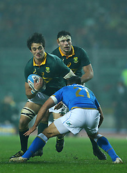 November 25, 2017 - Padova, Italy - Franco Mostert of South Africa in action during the Rugby test match between Italy and South Africa at Plebiscito Stadium in Padova, Italy on November 25, 2017. (Credit Image: © Matteo Ciambelli/NurPhoto via ZUMA Press)