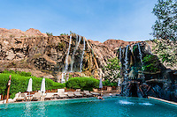 Swimming pool, Evason Ma'in Hot Springs Resort, Jordan.