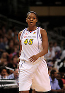 Sep 5, 2010; Phoenix, AZ, USA; Phoenix Mercury forward Kara Braxton (45) reacts on the court against the Seattle Storm during the first half in game two of the western conference finals in the 2010 WNBA Playoffs at US Airways Center.  The Storm defeated the Mercury 91-88.  Mandatory Credit: Jennifer Stewart-US PRESSWIRE