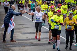 04-11-2017 USA: NYC Marathon We Run 2 Change Diabetes day 2, New York<br /> De dag van de marathon, 42 km en 195 meter door de straten van Staten Island, Brooklyn, Queens, The Bronx en Manhattan / Delia