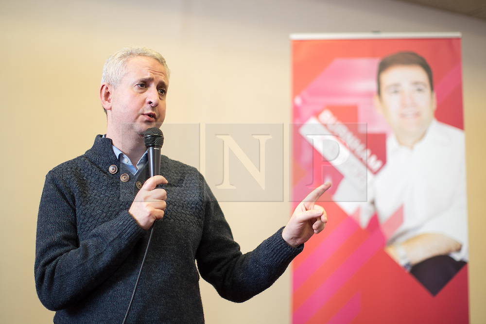 © Licensed to London News Pictures. 07/01/2017. Manchester, UK.  IVAN LEWIS MP , former candidate against Andy Burnham for Labour Mayor , speaks . Andy Burnham , Labour Party candidate for Mayor of Greater Manchester, launches his ground campaign and sets out his campaign policy, with party activists, at the Mechanics' Institute in Manchester. The election for Greater Manchester Mayor will take place in May. It will be represent the largest regional devolution of finance and power in England, to date. Photo credit: Joel Goodman/LNP